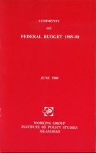 Comments on Federal Budget 1989-90  By Working Group
